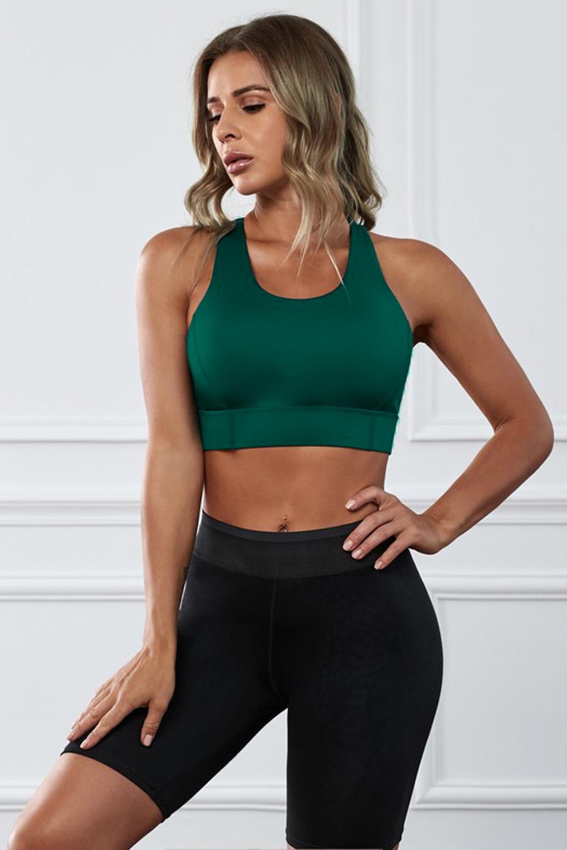 绿色瑜伽锻炼运动文胸 LC264042