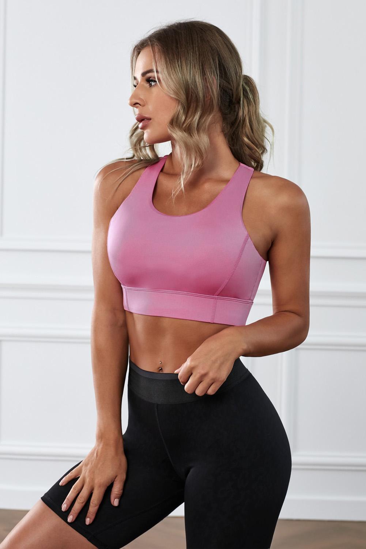 粉色瑜伽锻炼运动文胸 LC264042