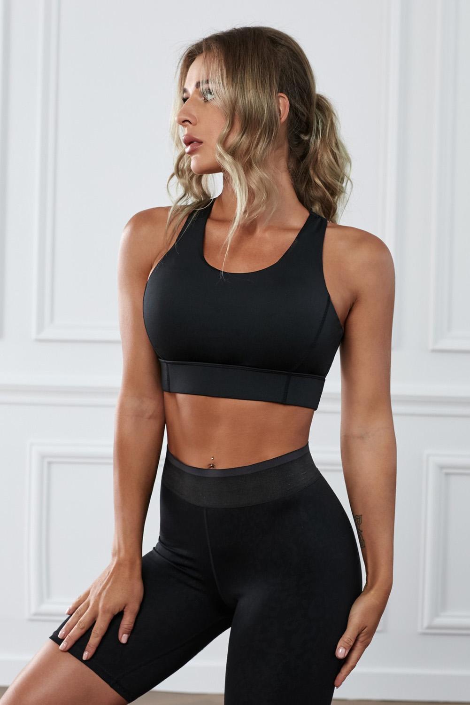 黑色瑜伽锻炼运动文胸 LC264042