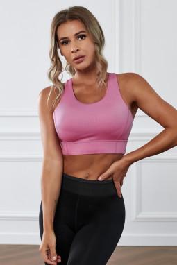 粉色瑜伽锻炼运动文胸