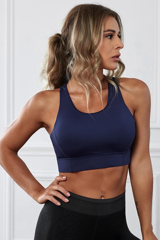 深蓝色瑜伽锻炼运动文胸 LC264042