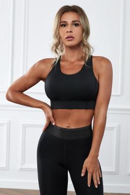 黑色瑜伽锻炼运动文胸