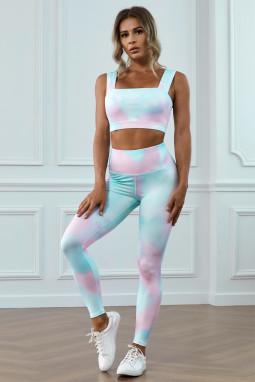 时尚扎染运动锻炼瑜伽两件套
