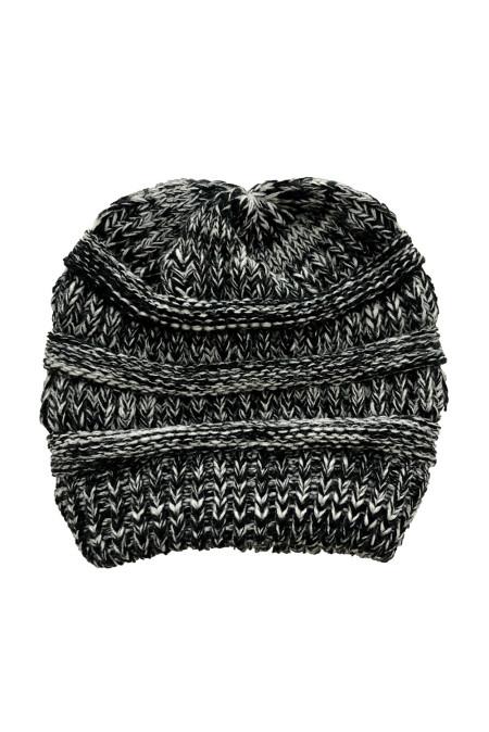 黑色针织毛线帽 LC02128