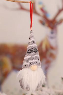 灰色圣诞节小矮人圣诞树装饰品