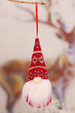 红色圣诞节小矮人圣诞树装饰品