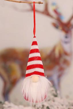 条纹圣诞节小矮人圣诞树装饰品