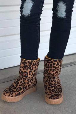 时尚豹纹雪地靴