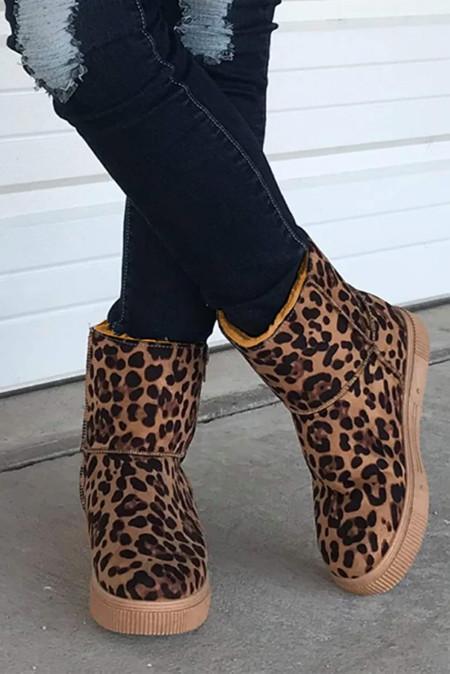时尚豹纹雪地靴 LC12458