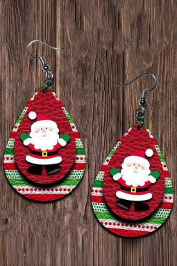可爱卡通圣诞老人双层耳环