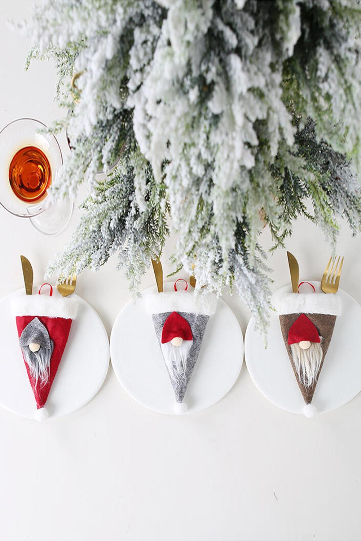 红色圣诞餐具袋 LC01721