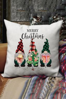 可爱圣诞矮人抱枕套