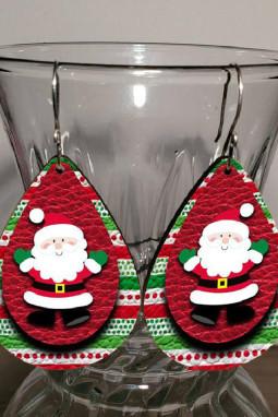 可爱圣诞老人双层耳环