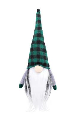 绿色格子侏儒圣诞老人圣诞节摆饰
