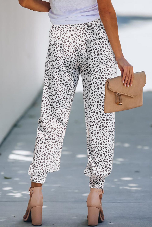 流行时尚豹纹抽绳宽松束脚休闲裤 LC77418
