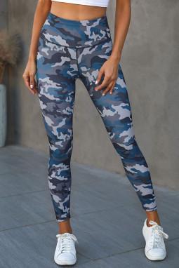 时尚迷彩宽腰运动瑜伽裤