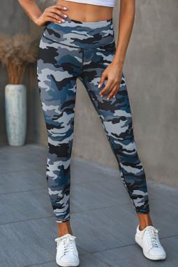 流行迷彩宽腰运动瑜伽裤