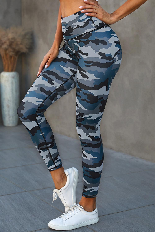 流行迷彩宽腰运动瑜伽裤 LC76049