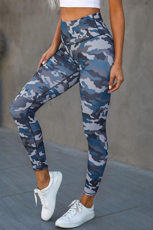 时尚迷彩宽腰运动瑜伽裤 LC76049