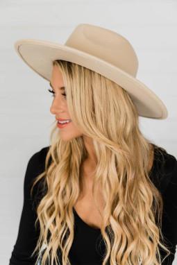 杏色豹纹时尚优雅礼帽