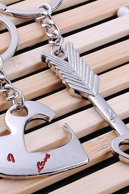 情人节爱心箭头钥匙扣2件组合装 LC026001
