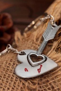 情人节爱心箭头钥匙扣2件组合装