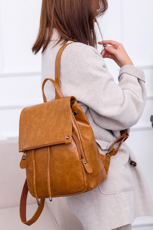 棕色PU皮革背包 LC003335