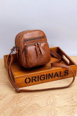 棕色小巧便携斜挎包