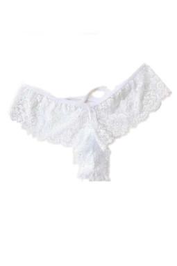 白色V形女士内裤