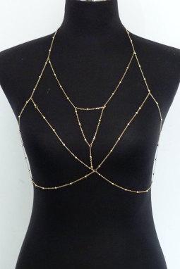 金色文胸线束美体链首饰
